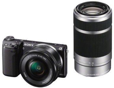 Sony NEX-5R Kit incl. 16-50 + 55-210mm für 699 Euro + 50 Amazon Gutschein @ amazon.de