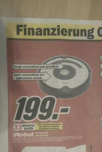 [Lokal?!] Bielefeld/Gütersloh Staubsaugerroboter iRobot Roomba 620 für 199€ im Mediamarkt