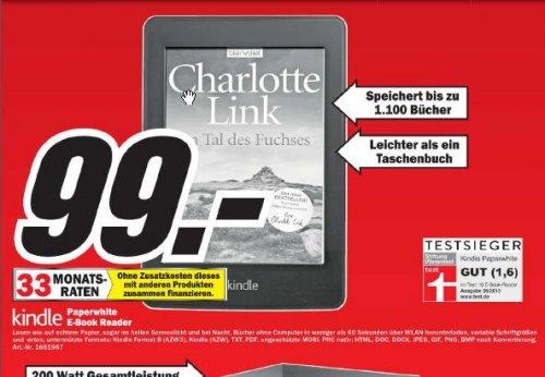 [LOKAL: Media Markt Alzey, MM Bischofsheim ] Kindle Paperwhite für 99 EUR und andere gute Angebote