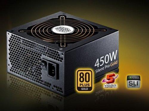 Cooler Master Silent Pro Gold 450W bzw. 550W ATX 2.3 Netzteil (80 Plus Gold, 5 Jahre Garantie) @ ZackZack