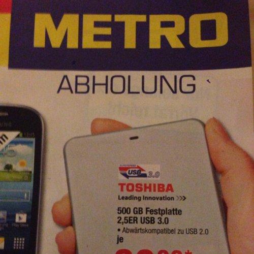 Metro (Bundesweit) Toshiba 500 GB 2,5er USB 3.0