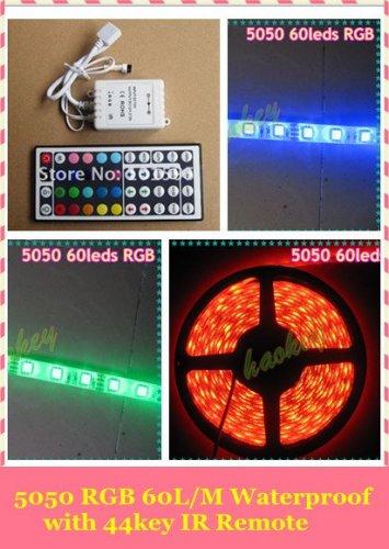 5m RGB LED Strip 5050 Wasserdicht 300 LED SMD mit 44 Tasten Fernbedienung @ Aliexpress (ohne Netzteil)