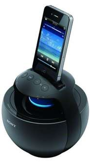 "Sony™ - 360° Apple iPod/iPhone Docking-Lautsprecher ""RDP-V20iP"" (Schwarz) [Refurbished] ab €44,20 [@Sony.de]"