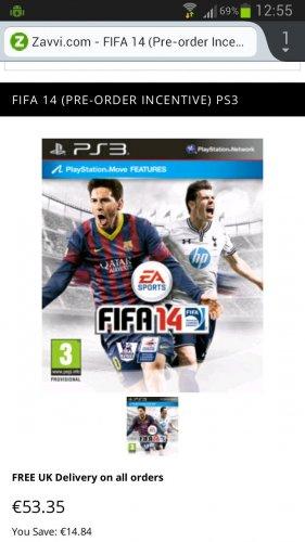 [PS3] Fifa 14 für 53, 35€ statt 65 € über Amazon