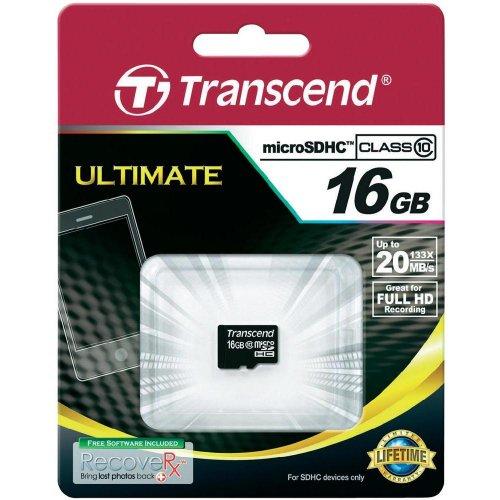3x Transcend microSDHC 16GB Class 10 für 29,19€ @Conrad