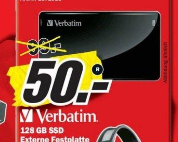 128GB SSD externe USB 3.0 Verbatim Festplatte im Mediamarkt Hamburg Altona für 50 Euro
