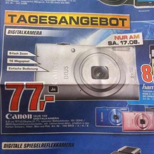 Canon Ixus 132 Saturn Stuttgart Tagesangebot am Sa. 17. August für 77€