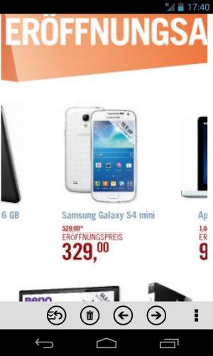 Samsung S4 Mini für 329€ Essen Cyberport Neueröffnung(16.August)