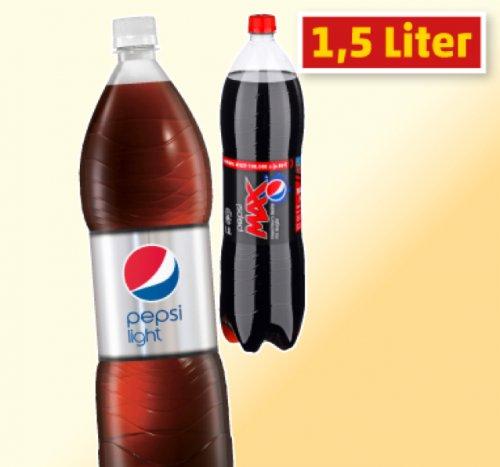 1,5 Liter Pepsi MAX, Pepsi oder Pepsi light für 0,59€ bei Penny