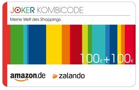 100€ Amazon und 100€ Zalando Gutschein für 184€