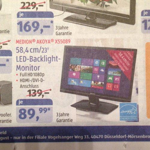 23 Zoll LED Monitor Aldi Düsseldorf Mörsenbroich