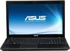 ab 09.00 Uhr: Asus F55A-SX172H 39,6 cm (15,6 Zoll) Notebook (Pentium 2020M, 2,4GHz, 4GB RAM, 500GB HDD, Intel HD, DVD, Windows 8) schwarz@Cyberport Cybersale