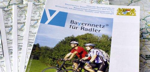 Freebie-Klassiker: Radwegkarte Bayern - Fernradwegekarte des Bayernnetz für Radler kostenlos