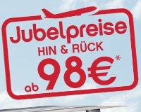 AirBerlin Jubelpreise ab 98 EUR