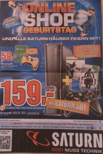 [Saturn][Online+Markt][Österreich] XBOX 360 250GB / Controller inkl. 12 Monate Live