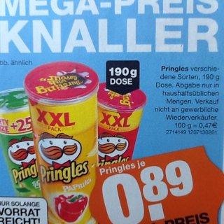 Pringles 190g lokal bei Segmüller in Friedberg, Weiterstadt und ggf. auch in Parsdorf