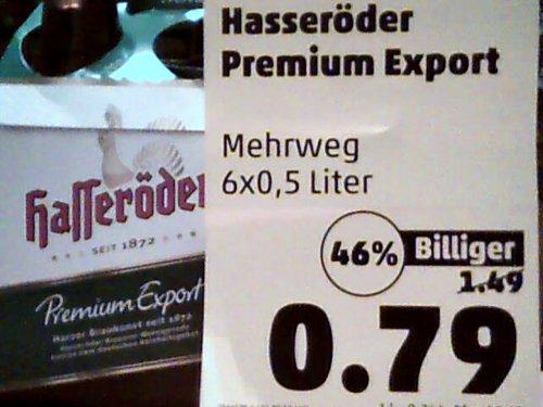 Hasseröder Premium Export 6 x 0,5l für 0,79€ bei Penny Berlin