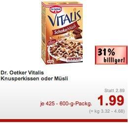 [Kaufland] Vitalis Müsli (425-600g) für 1,99€