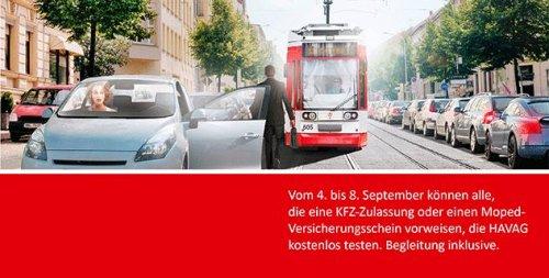 5 Tage kostenlos Hallesche Verkehrs-AG (HAVAG) Bus- und Tram(Straßenbahn) fahren