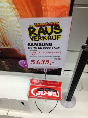 Rausverkauf MM Lippstadt - SAMSUNG UE75ES9090 SXZG für 5699€