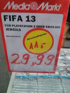 [Lokal L Höfe am Brühl Media Markt] Fifa 13 PS3/Xbox360 fur 11,-