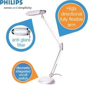 Philips Desk - Tischleuchte mit Blendschutz für 29,95€ zzgl. 5,95€ Versand @iBOOD