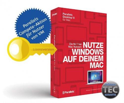 Parallels Desktop 8 Compete für 34,95 € anstatt 79 Euro