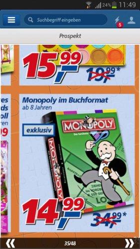 Monopoly im Buchformat @ real,-  14, 99 €