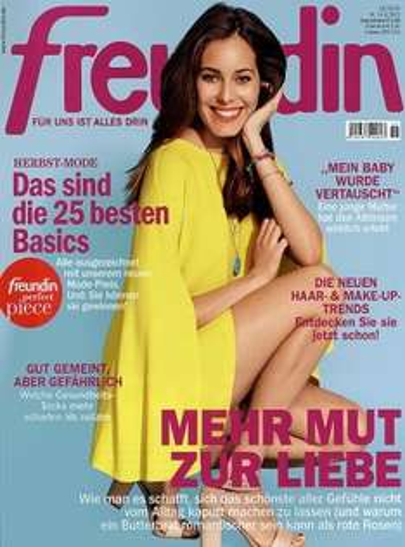 """Zeitschrift """"Freundin"""" für 9,90€"""