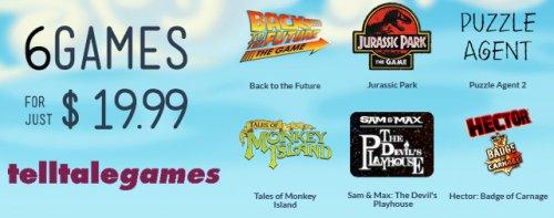 (MAC) Das Telltale Bundle mit 6 Spielen u.a. Monkey Island und Back to the Future für nur 15€