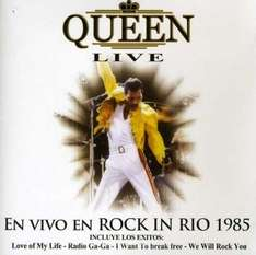 "CD - Queen ""LIVE - Rock in Rio 1985"" für €4,09 [Wowhd.co.uk]"