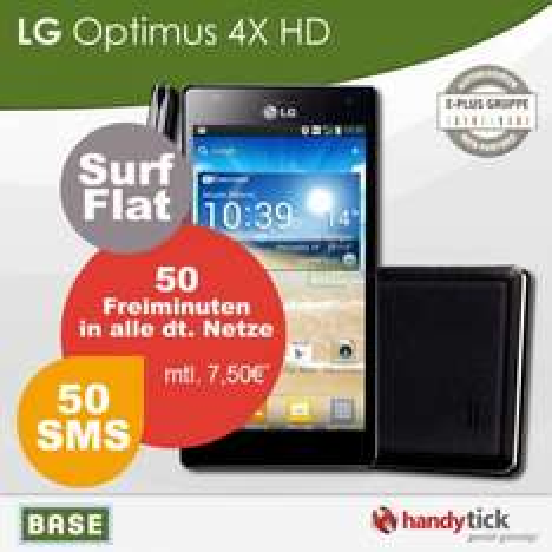 [ebay Handytick] LG Optimus 4x HD mit einem E+ Base pur Vertrag