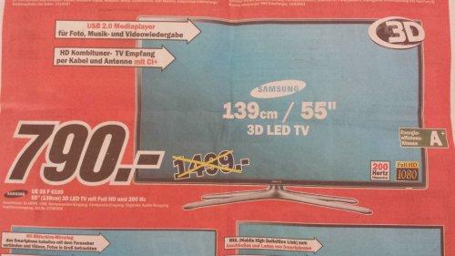 "[LOKAL Viernheim Mediamarkt ] Samsung 55"" 3D LED-TV UE55F6100"