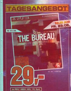 [LOKAL SATURN HAMBURG] The Bureau: XCOM Declassified PS3 / Xbox360 / PC 29€ nur am 23.08.2013 !!
