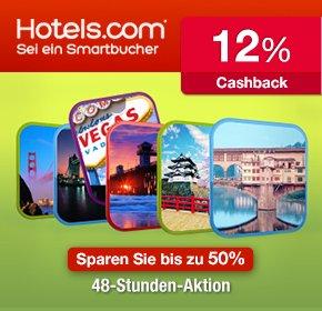 (qipu) 12% Cashback für Buchungen über Hotels.com