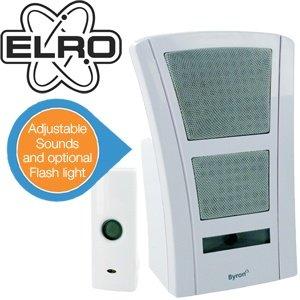 Elro Funk-Türklingel mit Lautstärkeregler und optionalen Signallicht für 25,90€ @ IBood