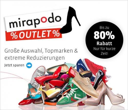 mirapodo outlet mit bis zu 80% Rabatt