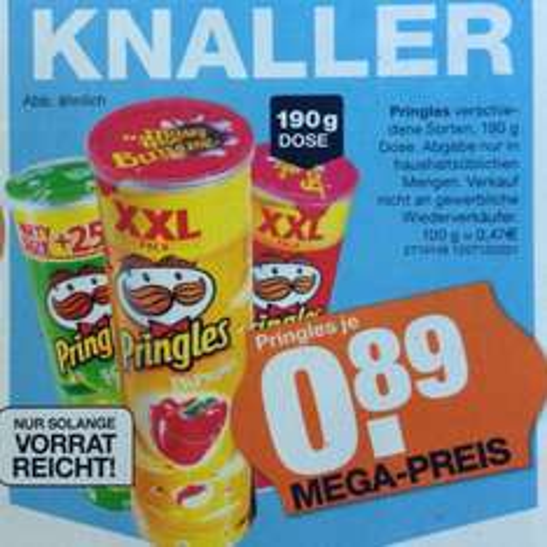 [Lokal] Segmüller Parsdorf: Pringles XXL-Pack für 0,89 €