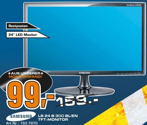 """Samsung™ - 24"""" LED-Monitor """"SyncMaster LS24B300BL/EN"""" (Full HD, DVI, 5ms) [Aussteller] für €99.- [@Saturn Kiel]"""