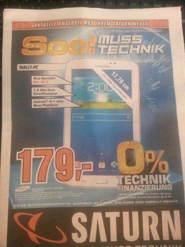 [Lokal] Samsung Galaxy Tab 3.0 7.0 T2100 WIFI 8GB Weiß Saturn Neuss