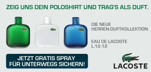 Kostenlose Lacoste Duftproben beim Müller (Polohemdpflicht)