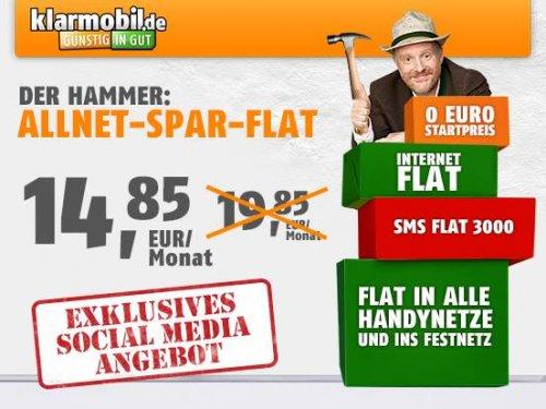 Klarmobil Allnet Flat + 3000SMS + 500MB Internet