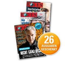 [Webmiles] 26 Ausgaben Focus kostenlos erhalten, wenn man mind. 20€ über webmiles kauft