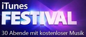 iTunes Festival 30 Abende mit kostenloser Live Musik