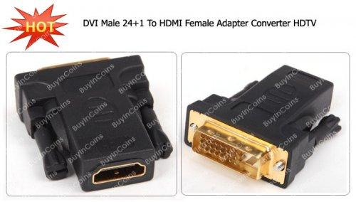 (CN) DVI Male 24+1 zu HDMI Female Konverter für 1,08€ @ Ebay