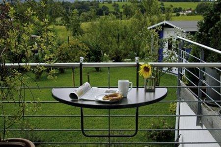 Balkon-Hängetisch Butler halbrund 100 x 50 cm in anthrazit für 44,51€ frei Haus @ Amazon WHD
