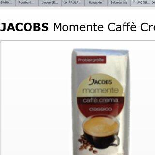 Jacobs Kaffee Crema Momenta Bohnen 250g 1,11€