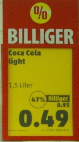 [Lokal Münster Penny Hafenviertel]Cola Light 1,5 Liter 49 Cent,  33cent/Liter!