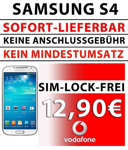 Junge Leute oder SOHO Deal, Galaxy S4 für 360 Euro durch 2 Vodafone Verträge !