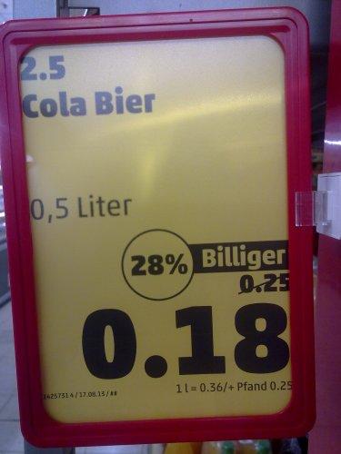 Penny-Markt Berlin/Müllerstraße (auch Bundesweit?) : 2,5 Original Cola-Bier für 18 Cent (0,5l Dose), Buitoni Nudeln, verschiedene Ausformungen, 1100 g, 1,19 Euro!